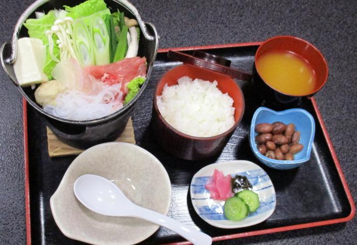 国産豚入りの キムチ鍋御膳